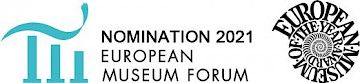 "Logo Nominiert für den ""European Museum of the Year Award"" 2021"