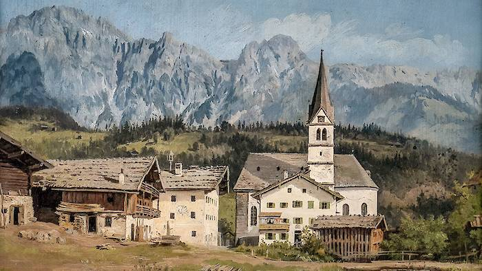 Painting of Old Leogang